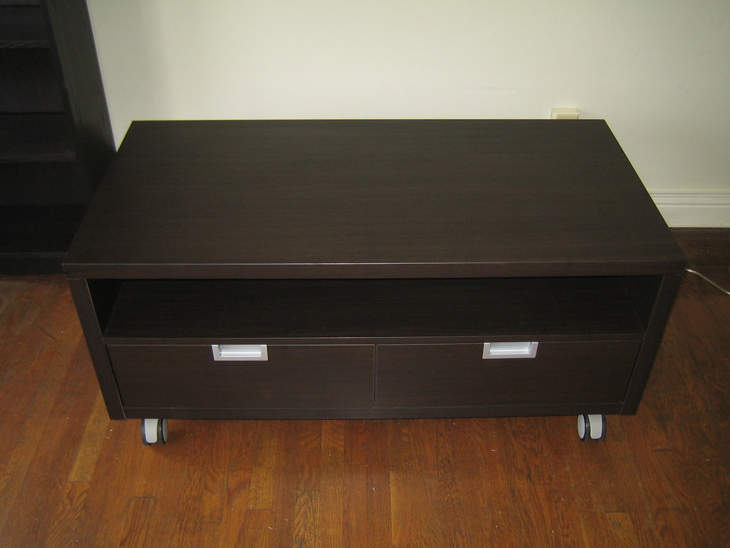 Ikea besta jagra tv stand black brown 47 1 4 width x 23 for Tall tv stand ikea