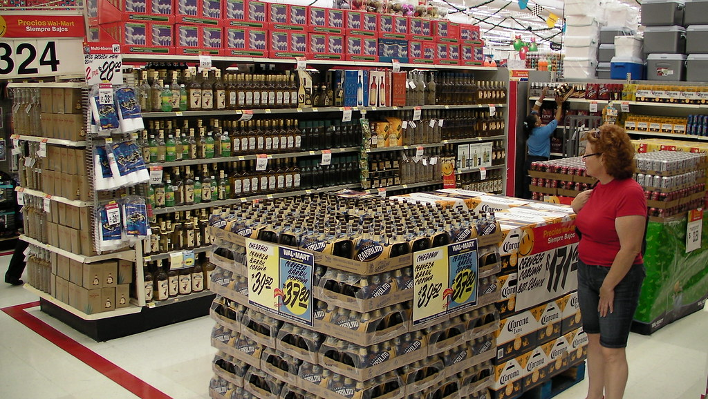 Liquor Displays Are Huge At Cancun Walmart Scott Maentz