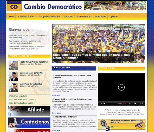 wiki cambio democratico salvador