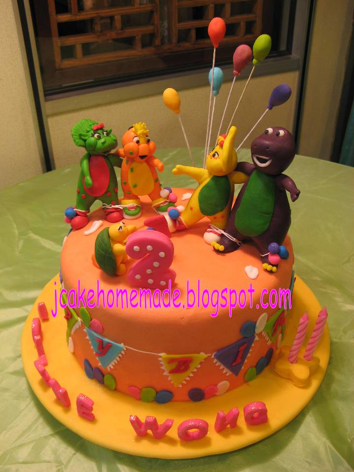 Barney and friends theme birthday cake Happy 2nd ...