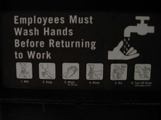 Employees Must Wash Hands Before Returning to Work | by whitneyhess