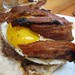 Burger with Gruyere, Bacon and Fried Egg