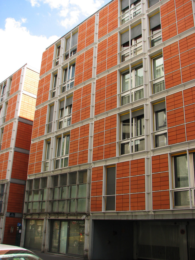 Rue De Meaux Housing A Low Cost Residential Complex By