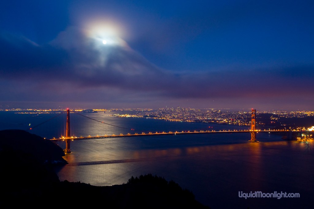 Full Moon Over The Golden Gate Bridge Please Take A