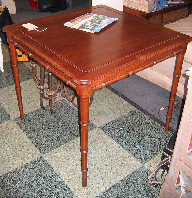 ... Faux Bamboo Game Table | By Southern Portico