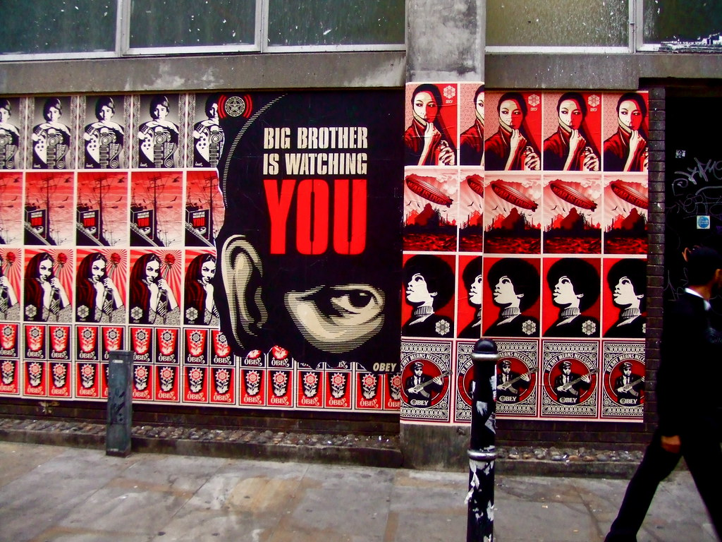 Big Brother is Watching You Wallpaper Shepard Fairey in London