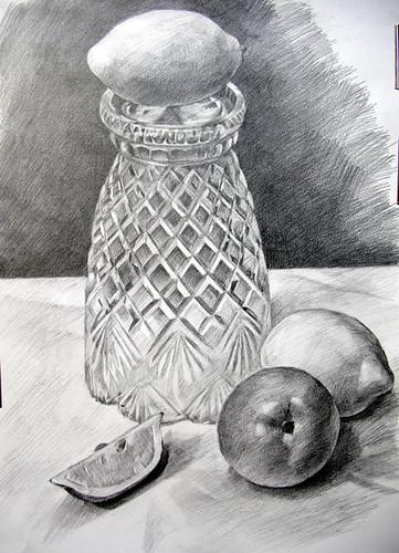 A Vase And Fruits Pencil Drawing Masahiro Suzuki Flickr
