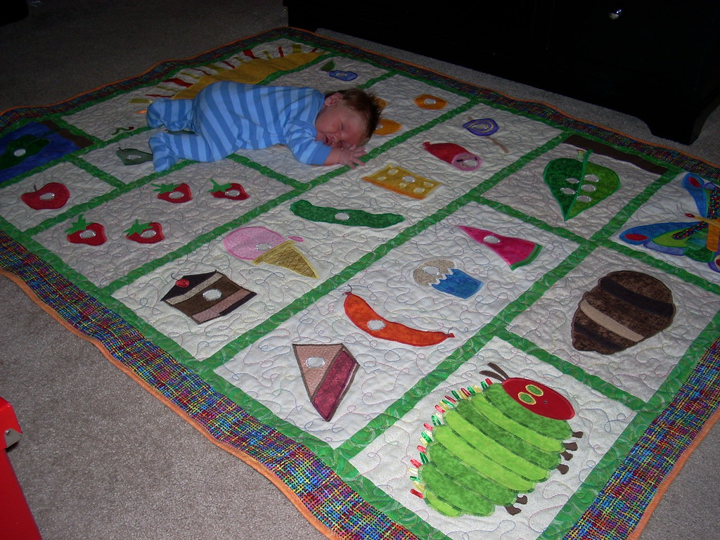 Noah's Very Hungry Caterpillar Quilt | Samantha | Flickr : the hungry caterpillar quilt - Adamdwight.com