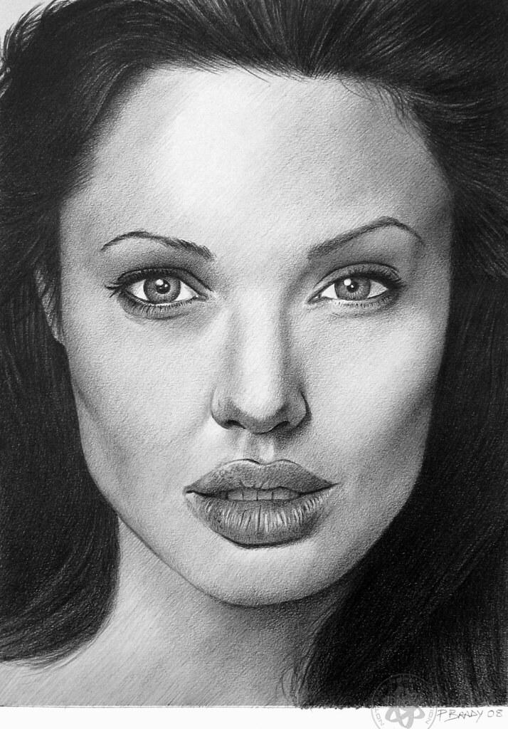 Angelina Jolie 03 | Pencil Drawing. | Paul Brady | Flickr