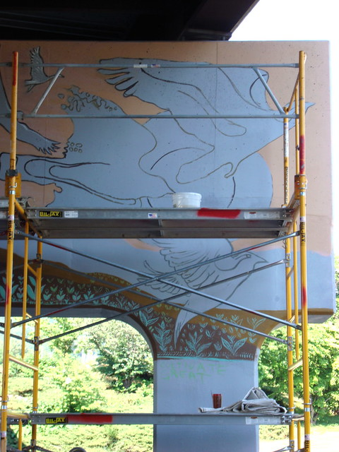 Amp column 8 asheville mural project in progress zen for Asheville mural project