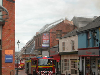 Fire at old Wrexham Hippodrome Cinema | by BBC North East Wales