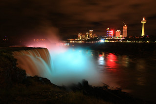american falls and niagara falls, regional municipality of niagara, ontario, canada from niagara falls, niagara county, new york 4 | by Alan Cressler