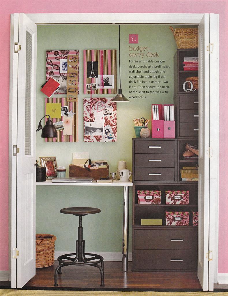 office closet from 100 decorating ideas magazine 2007