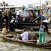 Floating homes in Cái Bè