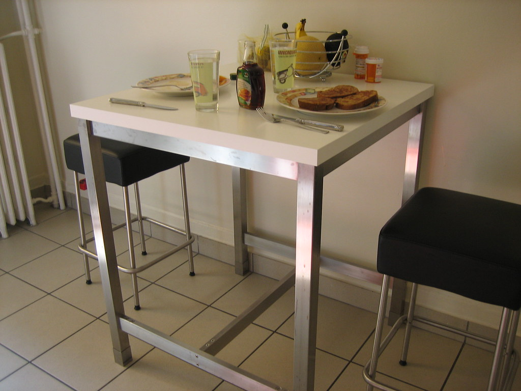 kitchen bar table stools ikea utby plateau table whit flickr. Black Bedroom Furniture Sets. Home Design Ideas