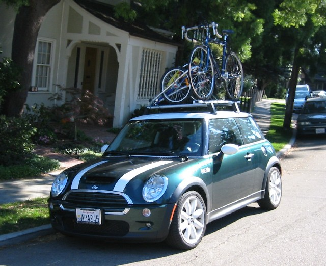 Mini Roof Rack In Action Getting Ready To Go On A Bike