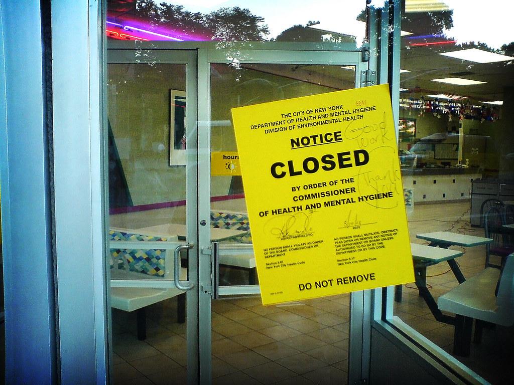Health Code Violation Bring Outside Food Into Restaurant