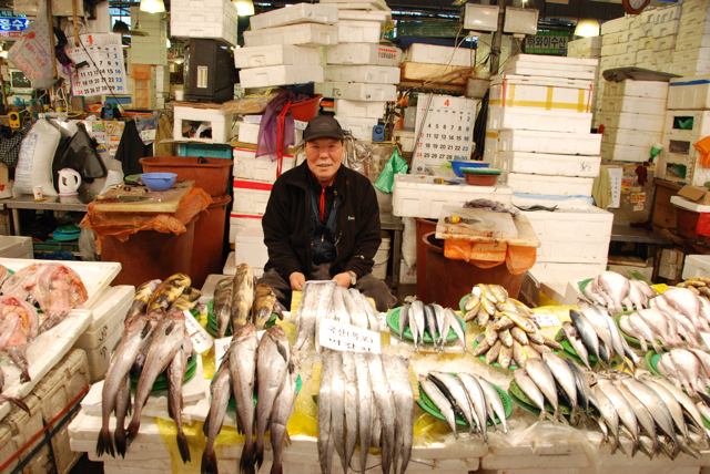 Fish Stall At Noryangjin Fish Market He Asked Me To Take