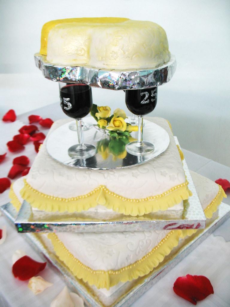 Silver Wedding Anniversary Cakes Gallery