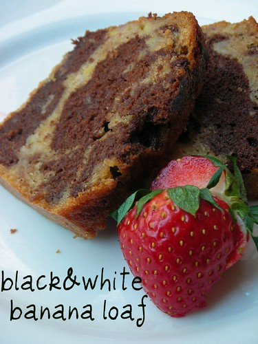 black-and-white banana loaf | by awhiskandaspoon
