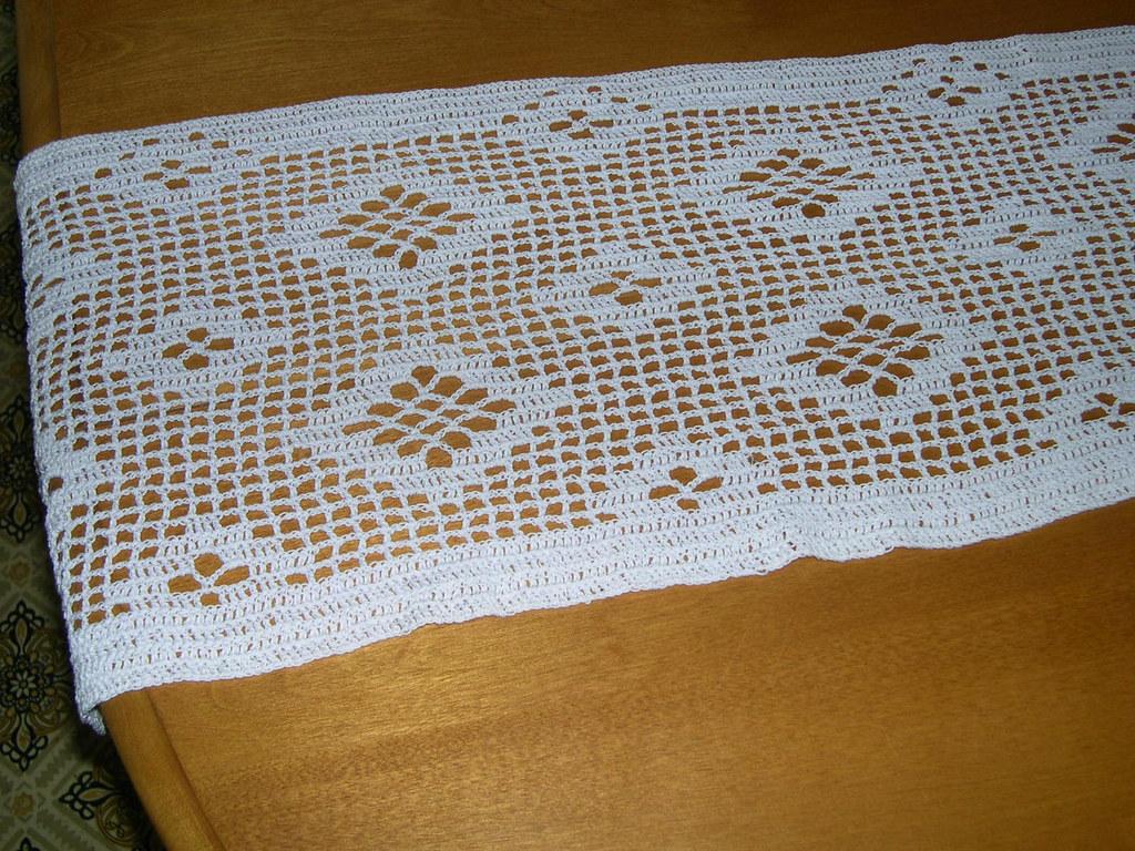 Filet Crochet Table Runner Filet Crochet Table Runner