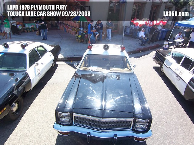 Lapd 1978 Plymouth Fury Toluca Lake Car Show Lapd 1978