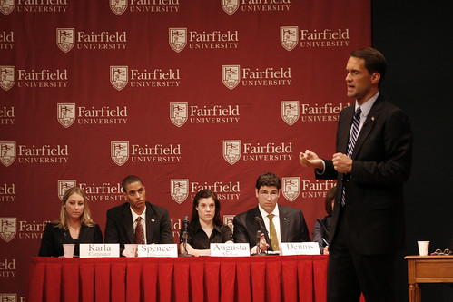 Shays/Himes debate at Fairfield University | by WNPR - Connecticut Public Radio