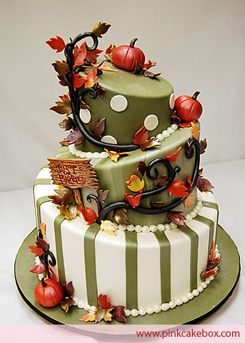 Autumn Wedding Cake | by PinkCakeBox