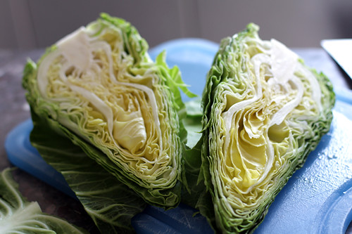 cabbage halves | by David Lebovitz