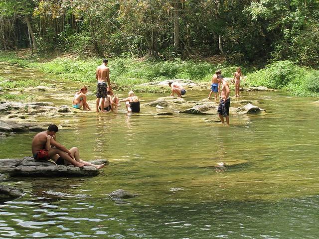 bathing in river | Charles Pieters | Flickr