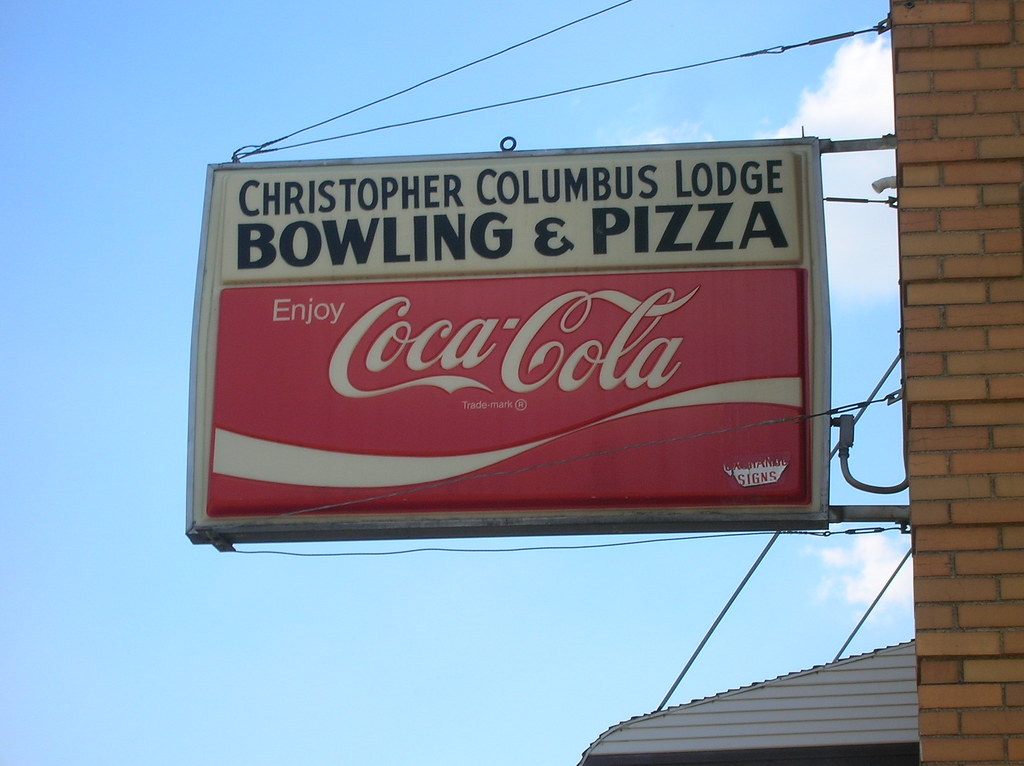 Christopher Columbus Lodge Bowling And Pizza Amp Coca Cola