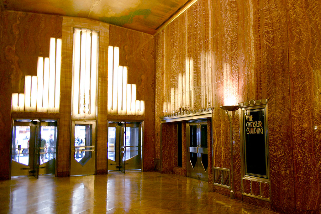 The chrysler building lobby 03 from nyc for Chrysler building lobby mural