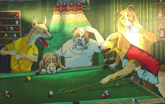 Perros Jugando Pool Malditos Perros Viciosos Esta Foto La Flickr