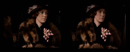 Woman wearing fur stole and corsage | by George Eastman House