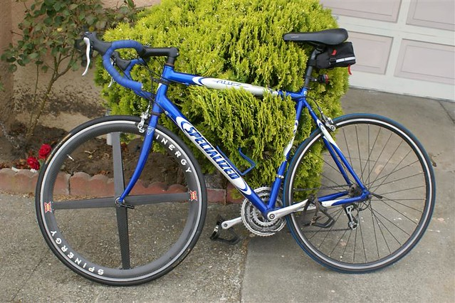 Specialized Allez A1 Testing The Spinergy Rim Mods Blue