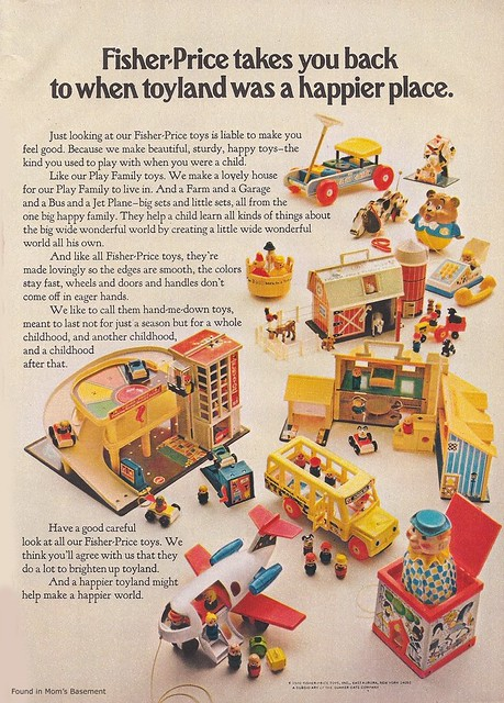 1971 Fisher Price Ad Found This At The Excellent Vintage