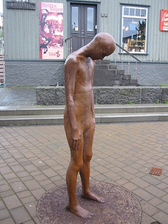 Sad Icelandic sculpture | by WorldIslandInfo.com