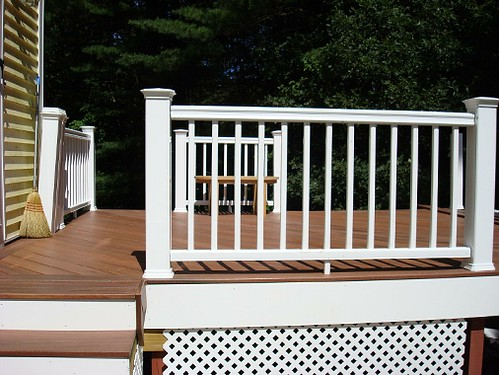 Fiberon tropics jatoba and white radiance a 12x16 deck i for Who makes tropics decking
