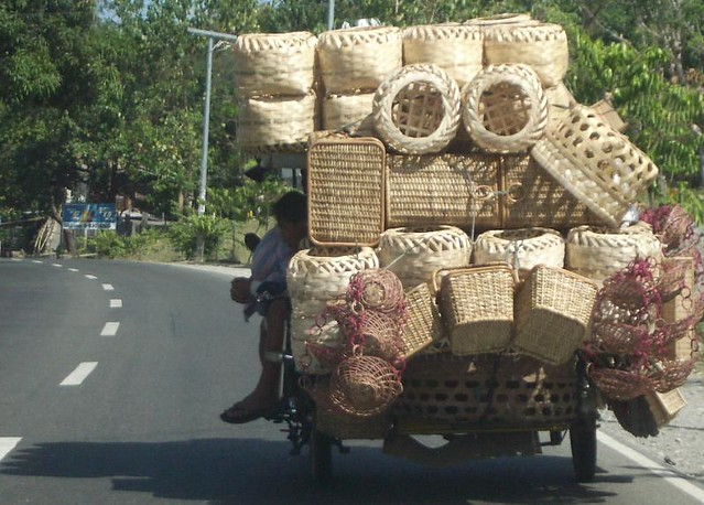 tricycle and native filipino products/baskets | a tricycle ...