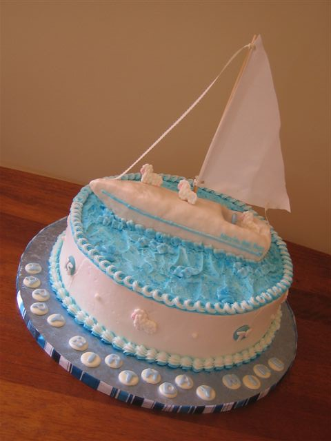 Fabulous Sailboat Birthday Cake A Surprise 75Th Birthday Cake For A Flickr Funny Birthday Cards Online Sheoxdamsfinfo