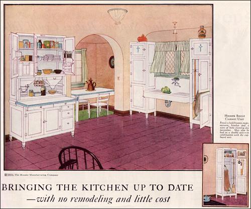 1924 hoosier kitchen cabinet ad flickr photo sharing for 1925 kitchen designs