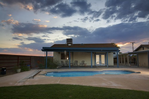Recreation and Pool Sunset | by Hidesert