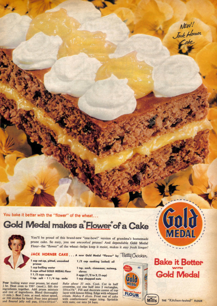 vintage ad  633  betty crocker makes a  u0026quot flower u0026quot  of a cake