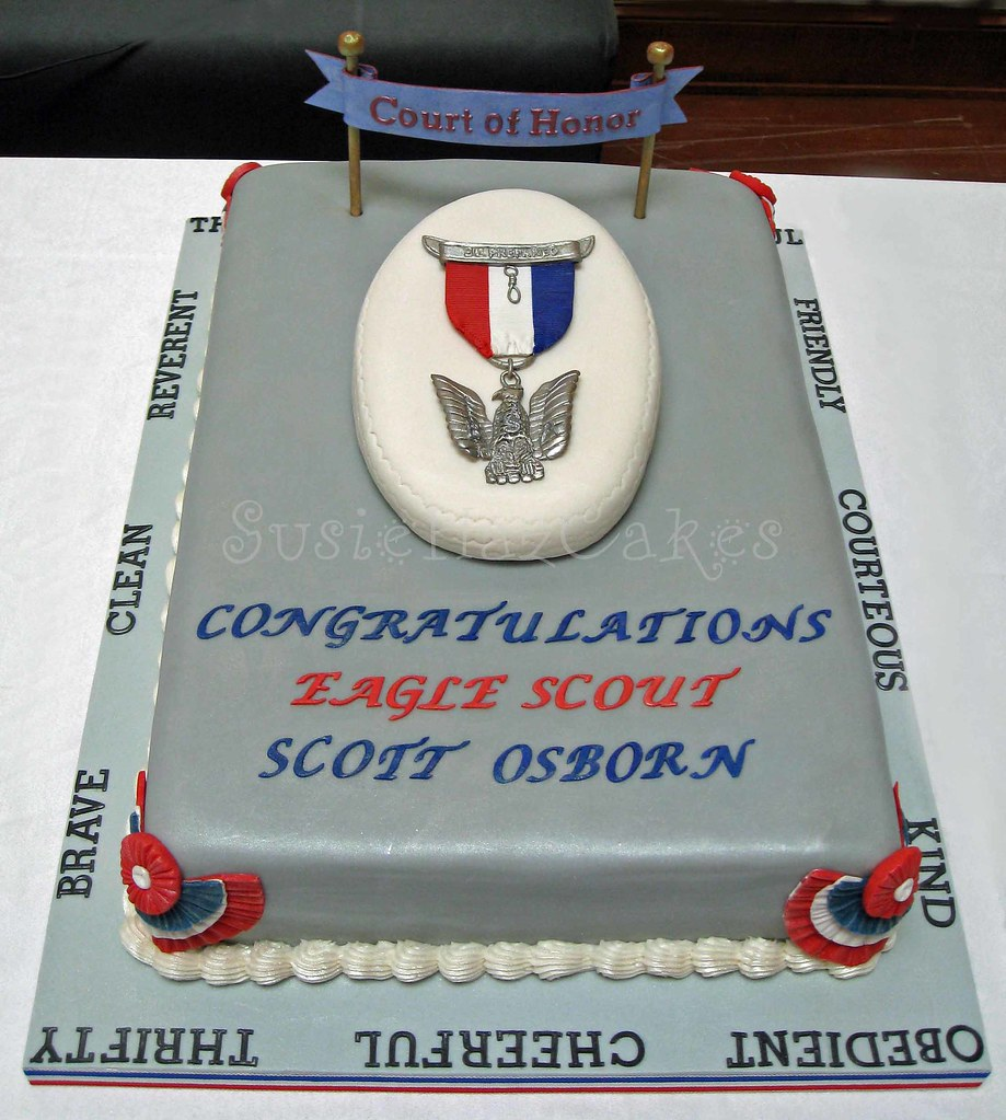Eagle Scout Cake Made For An Eagle Scout Ceremony