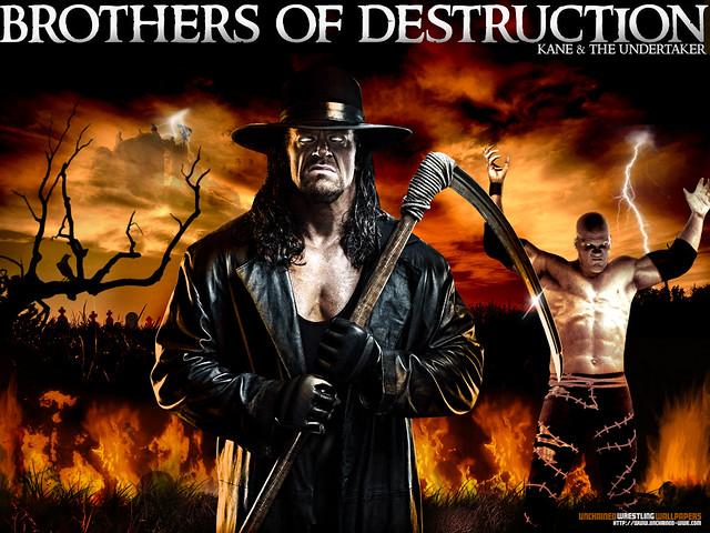 WWE Brothers Of Destruction Kane Undertaker Wallpaper