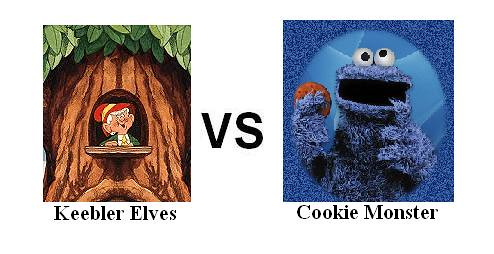 "Keebler Elves vs Cookie Monster   ""Well done guys!"" Says Ern ..."