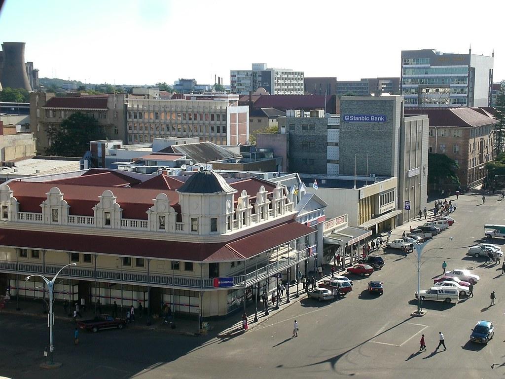 Bulawayo Zimbabwe  city images : CBZ Bank, 8th Avenue, Bulawayo, Zimbabwe | In the foreground ...