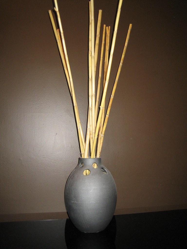 Vase With Bamboo Sticks ~ Mikasa vase with bamboo sticks elegant yet funky