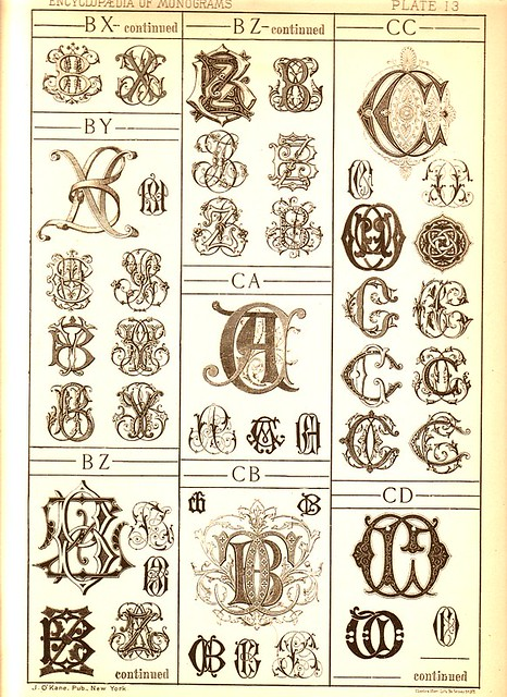 Antique Page Of Monograms 13 I Have Several Single Pages O Flickr