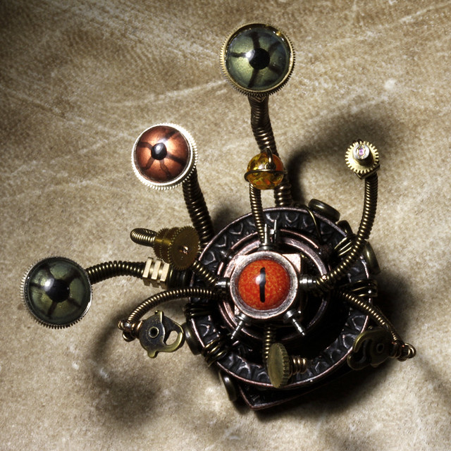 Steampunk D&D Beholder miniature sculpture #2 : Work in Pr ...